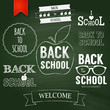 Back to school poster design. Vector illustration