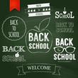 Back to school poster design. Vector illustration