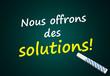 Service: Nous offrons des solutions! (Tableau)