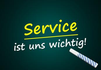 Werbung: Service ist uns wichtig! (Kundenservice, CRM)