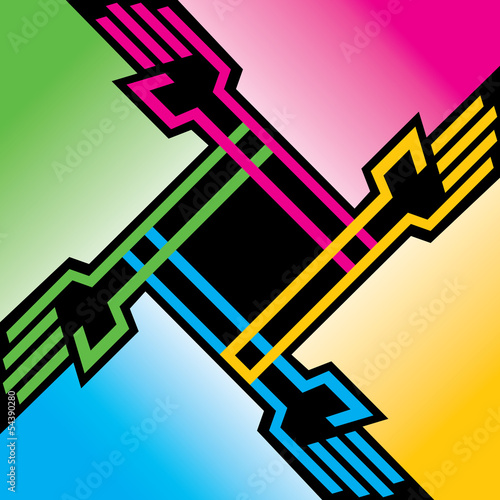 Vector colorful hands background stock vector