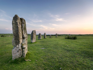The Hurlers Stone Circle on Bodmin Moor