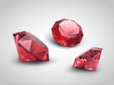 A beautiful ruby gems (vector objects)