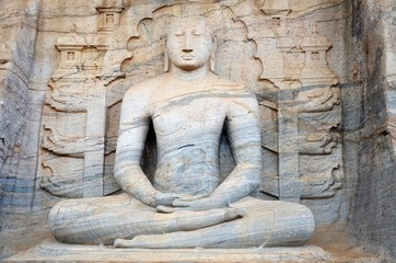 Buddha and meditation, Polonnaruwa, Srí Lanka