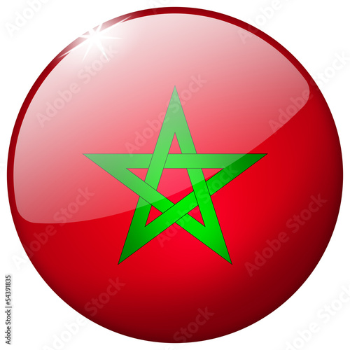 Morocco Round Glass Button
