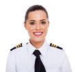 female airline pilot closeup portrait - 54393209