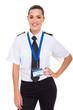 female airline co-pilot - 54393290