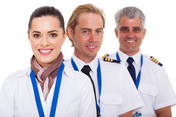 airline crew close up portrait