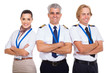 group of airline crew with arms folded - 54394233