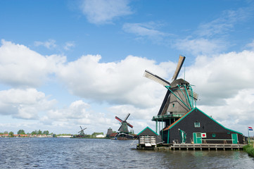 Windmills at Dutch Zaanse Schans