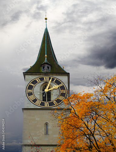 Clock tower of St. Peter's Church
