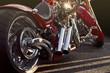 canvas print picture - Custom bike closeup