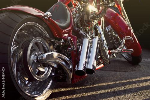 canvas print picture Custom bike closeup