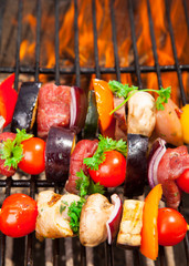 Fresh meat on grill