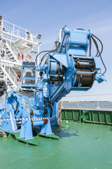 Industrial machine on a ship