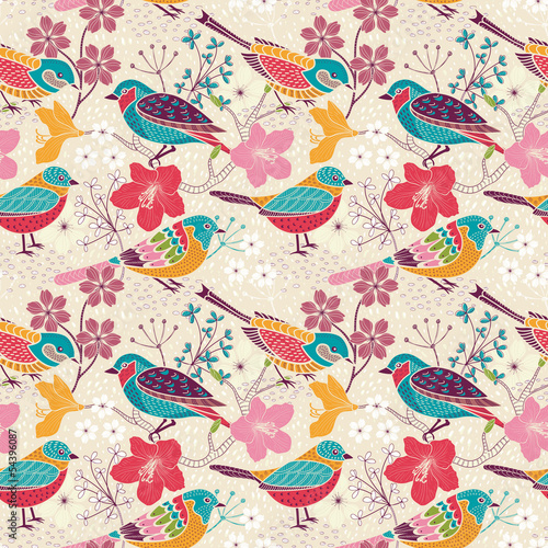 Seamless floral pattern - 54396087
