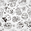 pattern doodle birthday seamless