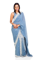 beautiful woman wearing traditional indian costume
