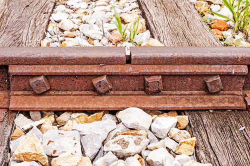 Joined train rails