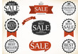 Sale and Guaranteed Labels with retro vintage style design