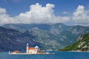 Bay of Boka-Kotorska, island Our Lady of the Rocks,Montenegro