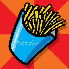 French fries - Hand draw
