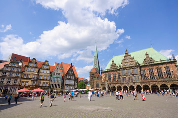 Historic town hall and old town of Bremen, Germany