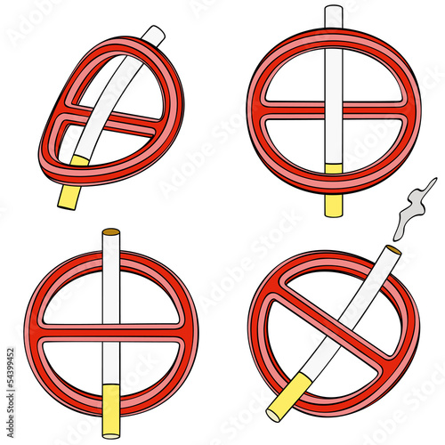 It is forbidden to smoke (four 3d sign)