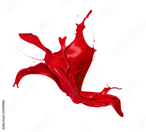 Red splash