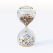 Euro Money In Hourglass (Conceptual Picture Of Business)