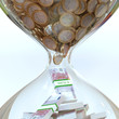 Euro Money In Hourglass (Picture Of Successful Business)