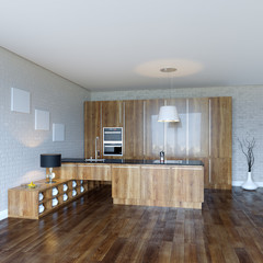 Luury Wooden Kitchen Cabinet