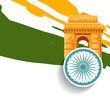 stylish indian independence day design