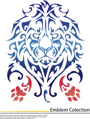 illustration of Lion face tattoo