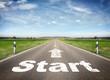 Strasse mit dem Wort Start