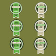 Vector set of retro green  badges