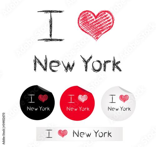 Fototapete illustration i love new york fototapeten for Raumgestaltung new york