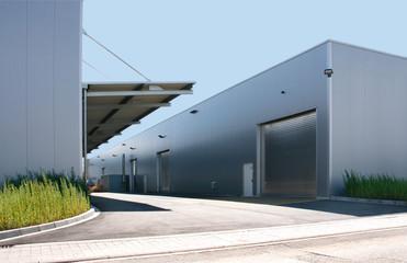 Fabrik in Industriegebiet