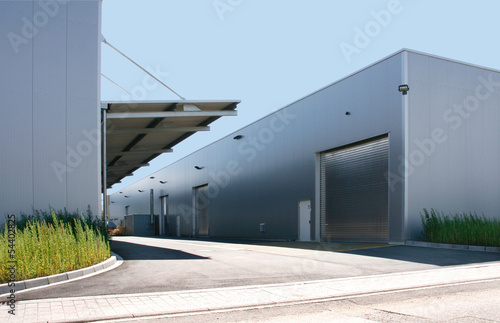 canvas print picture Fabrik in Industriegebiet