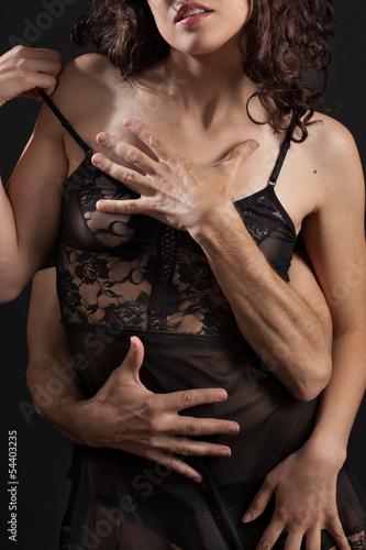 canvas print picture Abbraccio sensuale