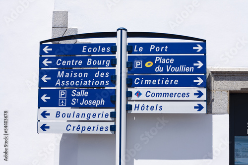 French signposts