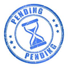 Vector pending ink stamp