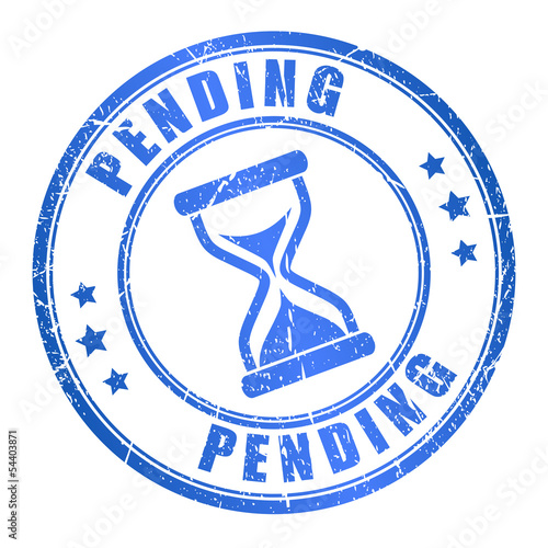 Vector pending ink stamp