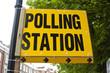 UK polling station sign