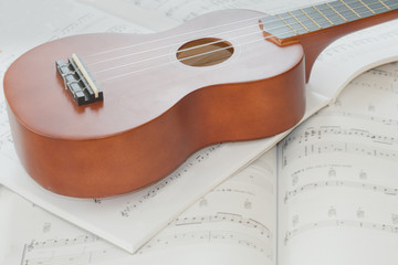 Ukulele and Sheet Music