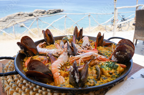 Fotobehang Schaaldieren paella - spanish