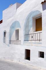 Calpe. Mediterranean Spanish coastal city, old  town center