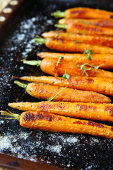 Baked whole carrot