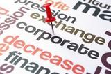 Corporate decrease concept poster
