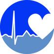 Logo Medizin Web Icon Herz